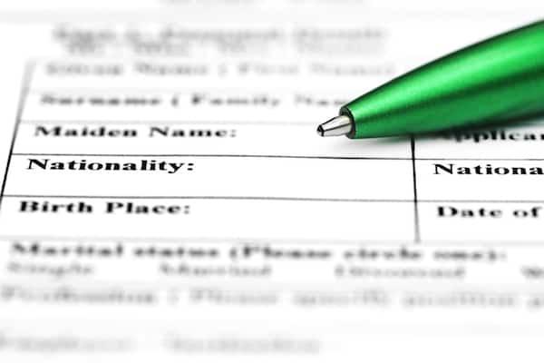 Nationality Application Image