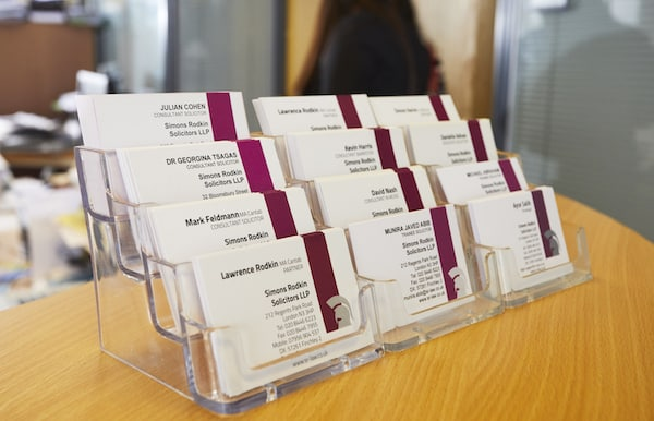 Simon Rodkin Solicitors LLP Business Cards